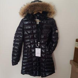 Black Color Long Moncler Coat